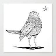 Thursday Bird Canvas Print