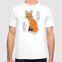 Orange Fox Mens Fitted Tee White SMALL