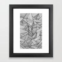 Straight Lines Framed Art Print