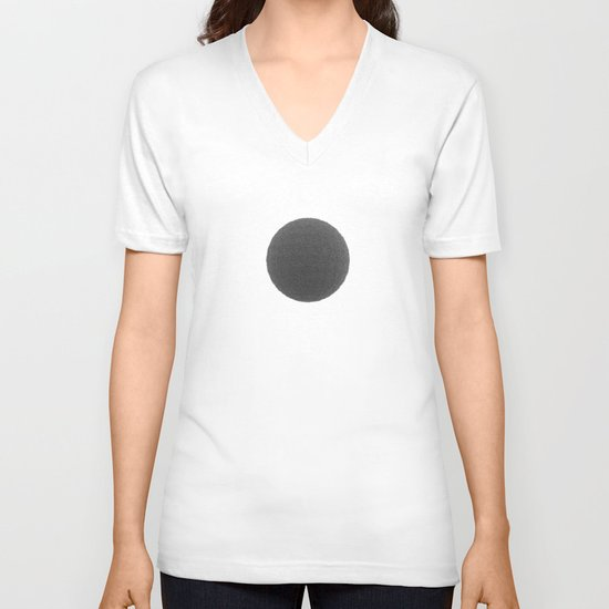 Black sphere V-neck T-shirt