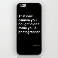 That New Camera You Boug… iPhone & iPod Skin
