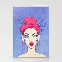 Selfie girl_3 Stationery Cards