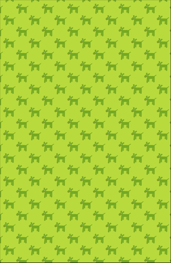 Dogs-Green Canvas Print