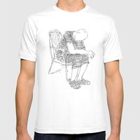 The Sitter Mens Fitted Tee White SMALL