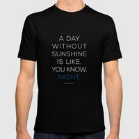 A Day Without Sunshine. Mens Fitted Tee Black SMALL