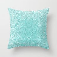 Abstract Teal Throw Pillow