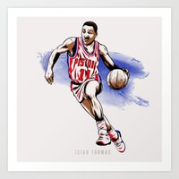 Isiah Thomas Art Print