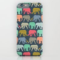 baby elephants and flamingos iPhone 6 Slim Case