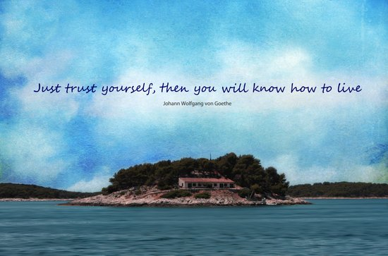 Trust yourself Art Print
