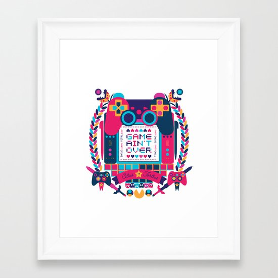 FOTOGRAMAS / GAME AIN'T OVER Framed Art Print