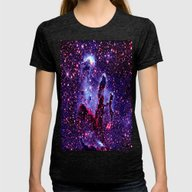 GaLaXY. Womens Fitted Tee Tri-Black SMALL