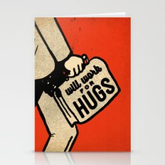 Will Work For Hugs Stationery Cards