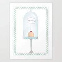 happy birthday Art Prints featuring Happy birthday by Babiole Design