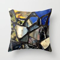 Closeup (PHOTO) Of A Gla… Throw Pillow