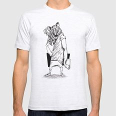 Bear Mens Fitted Tee Ash Grey SMALL