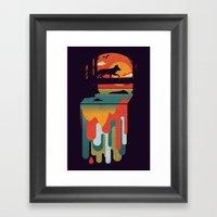 Great Falls Framed Art Print