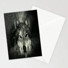 Wolf Black and White Stationery Cards