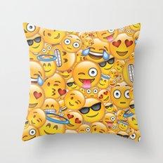 Smiley galore Throw Pillow