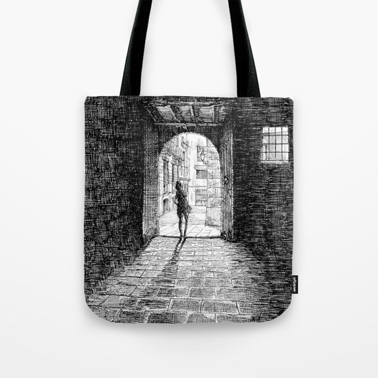 Light - Black ink Tote Bag