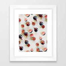 Fresh Figs on Linen Framed Art Print