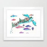 Flying Rio de Janeiro Framed Art Print