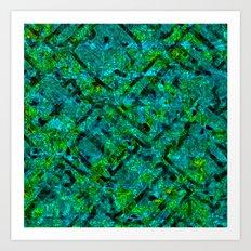 Vitrage (Turquoise) Art Print