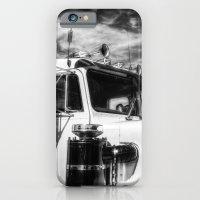 iPhone Cases featuring Peterbilt American Truck by David Pyatt
