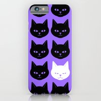 iPhone & iPod Case featuring Cats Purple by Caz Haggar