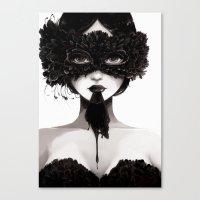 La veuve affamee Canvas Print