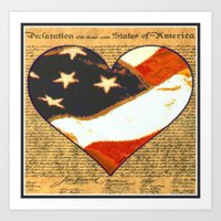 Happy Birthday America Art Print