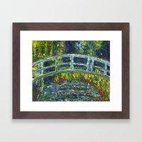 Monet Interpretation Framed Art Print