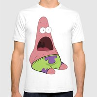 Patrick Star  Mens Fitted Tee White SMALL