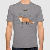 Anatomy of a Fox Mens Fitted Tee Tri-Grey SMALL
