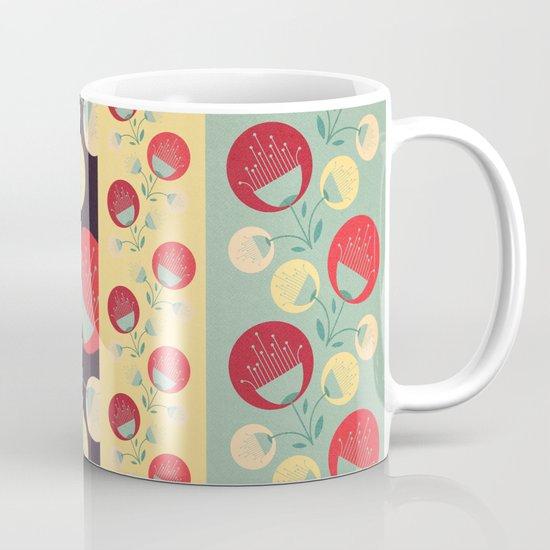 50's floral pattern Mug