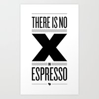 No X in Espresso – Black Art Print