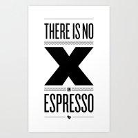 No X In Espresso – Bla… Art Print