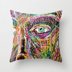 The Most Gigantic Lying Eyes Throw Pillow