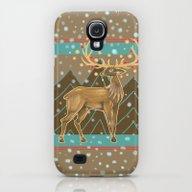 Golden Christmas Deer  Galaxy S4 Slim Case