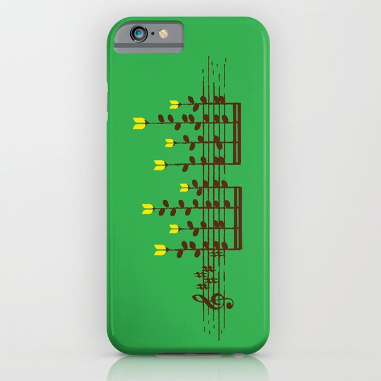 Music notes garden iPhone & iPod Case