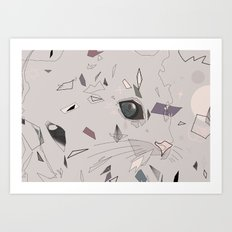 serious cat Art Print