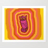 Psychowl Art Print