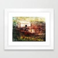 Family Barn - Heritage Series Framed Art Print