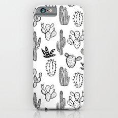 Cactus desert southwest palm springs festival house plant succulent terrarium black and white art iPhone 6 Slim Case