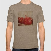 Candy Apples Mens Fitted Tee Tri-Coffee SMALL