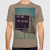 Dirty Deeds Mens Fitted Tee Tri-Coffee SMALL