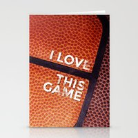 I Love This Game Stationery Cards