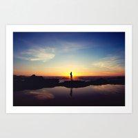 Sunset Music Art Print