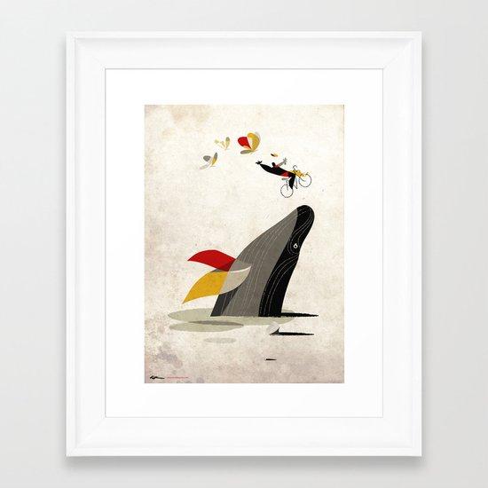 For a breath, the butterflies Framed Art Print