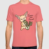 Fennec with Fennel Mens Fitted Tee Pomegranate SMALL