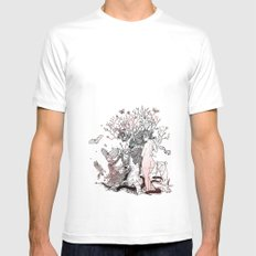Lilith tastes. SMALL White Mens Fitted Tee